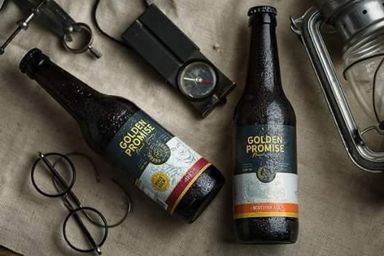 Cata cervezas Golden Promise. Nomad Brewery con salchichas alemanas