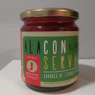 Conservas artesanales al natural de verduras asadas a la leña sin sal