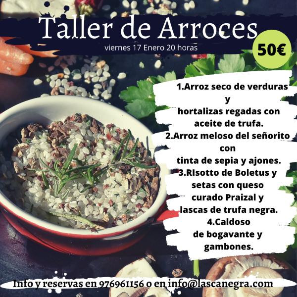 Taller de Arroces en Zaragoza